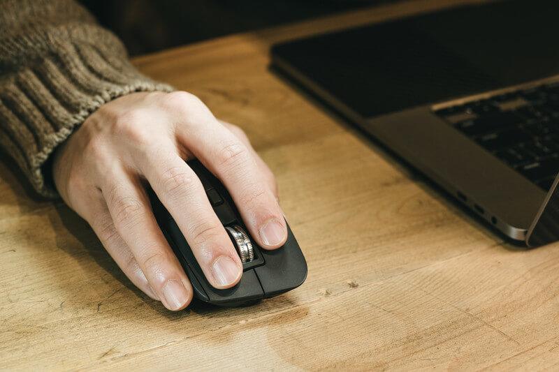 PC,マウス,滑る